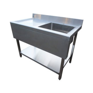 Stainless Steel Sink 1000mm Left Hand Drainer With Valance Ex Vat