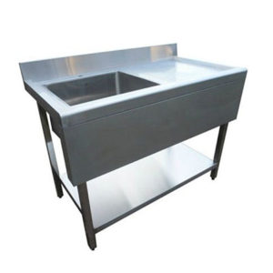 Stainless Steel Kitchen Sink 1000mm Right Hand Drainer With Valance Ex Vat