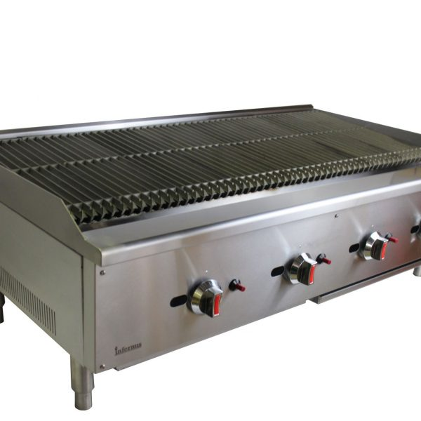 CHAR-GRILL HEAVY DUTY FOR COMMERCIAL USE 4 BURNER GAS CHARCOAL BBQ GRILL