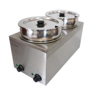 2 Pot Wet Bain Marie 4 Litre X2 Electric
