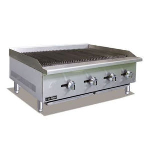 "Infernus 4-Burner 48"" Gas Charcoal Lava Rock Grill 1200mm Wide"