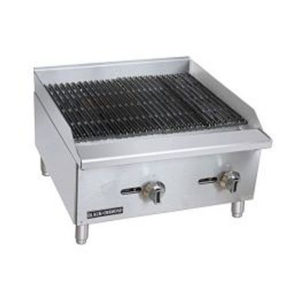 "Infernus 2-Burner 24"" Gas Charcoal Lava Rock Grill 600mm Wide"