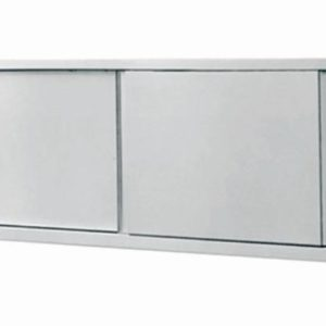 Stainless Steel Wall Cupboard 2-Door 100cm