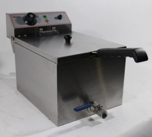 Counter Top Electric Fryer Single Tank 10 Litre and Oil Drain Tap