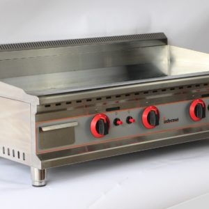 Counter Top Gas Griddle 100cm CHROME LPG or NAT