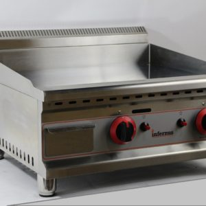 Counter Top Gas Griddle 60cm CHROME LPG or NAT