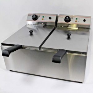 Counter Top Electric Fryer Twin Tank 10 10 Litre